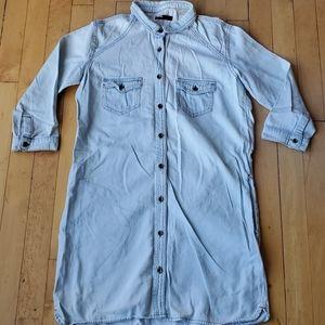 UO BDG Denim Shirt Dress Sz S